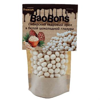 Сибирский кедровый орех в белой шоколадной глазури (150 гр.) - BaoBons Premium (10 шт.) - фото 41768