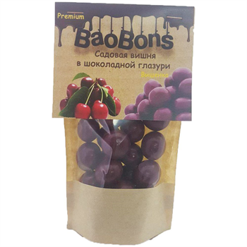 Садовая вишня в шоколадной глазури (150 гр.) - BaoBons Premium (10 шт.) - фото 41957